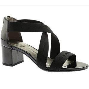 Bandolinos Black Sholto Strappy Sandals In Lycra